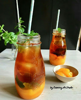 Ide Resep Membuat Iced Orange Tea (Es Teh Jeruk)