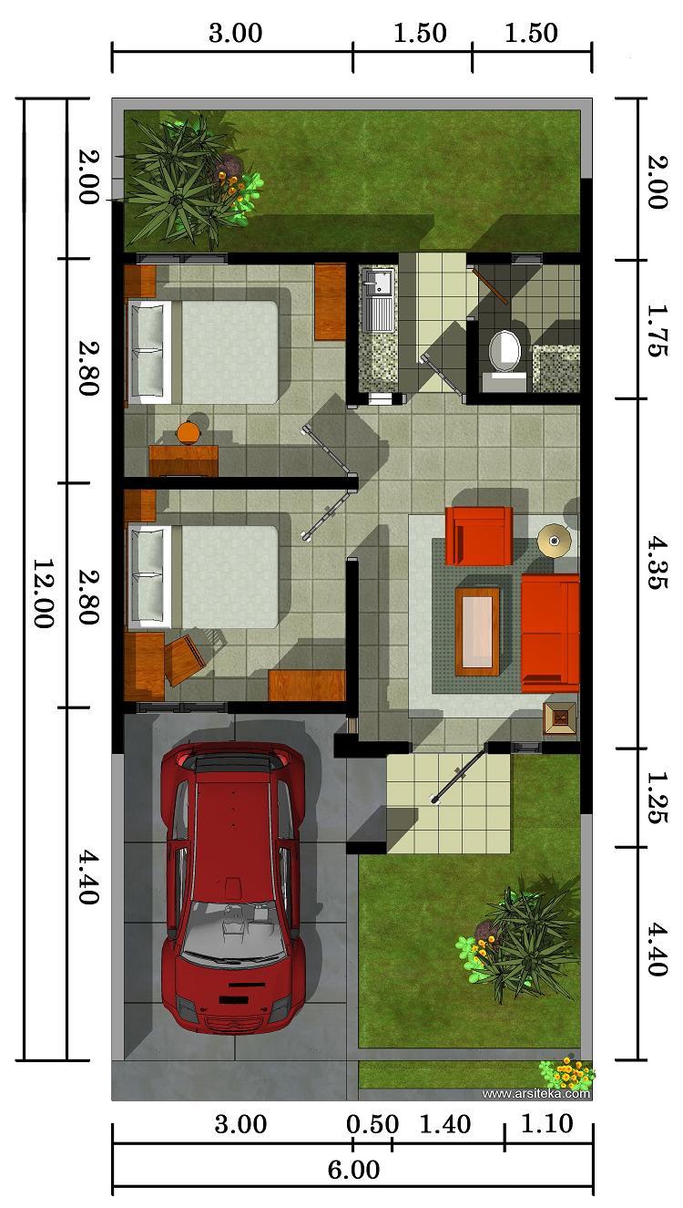 30 Denah Rumah Minimalis Type 36 Rumahku Unik