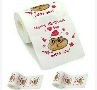 Xmas Gift Tissue Papers for Lovers: Merry Christmas Toilet Wipes and Paper Rolls for Love Couples - Funny Gag Gifts