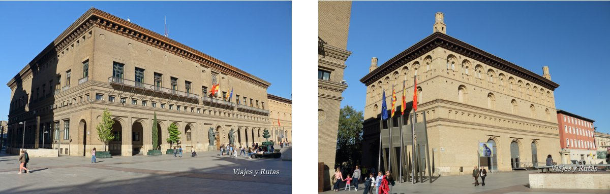 Ayuntamiento y lonja de Zaragoza