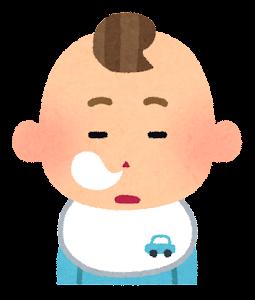 赤ちゃんの表情のイラスト(男・居眠り)