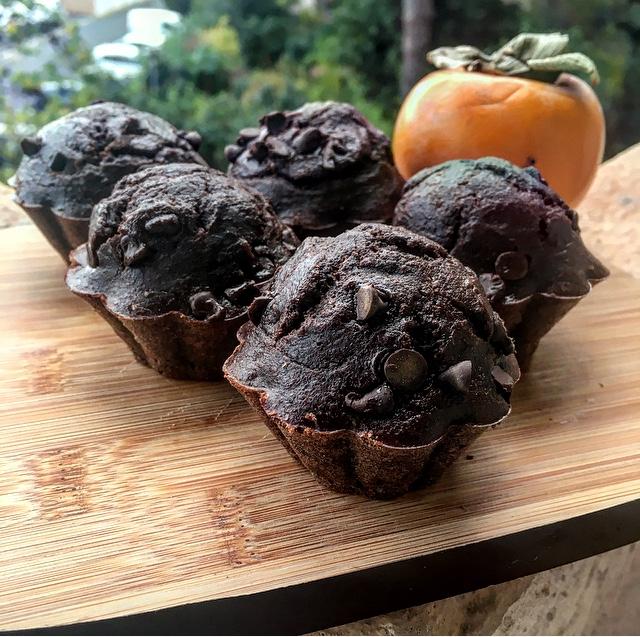 Muffins healthy chocolat banane et beurre de cacahuètes