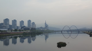 Beautifu scenery walking to Daejeon convention center South Korea