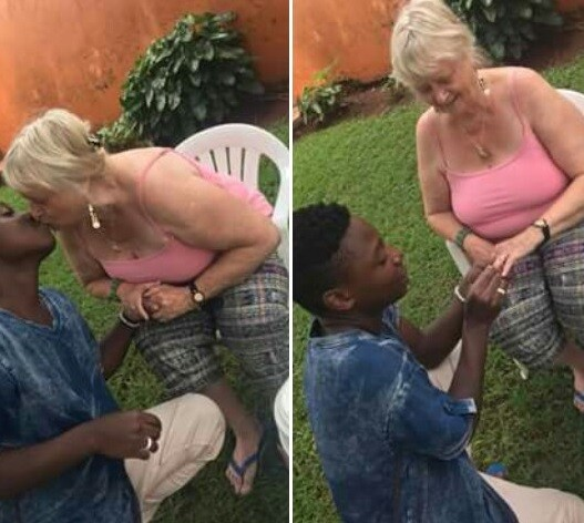 71-year-old Swedish gets engaged to her 19-year-old lover