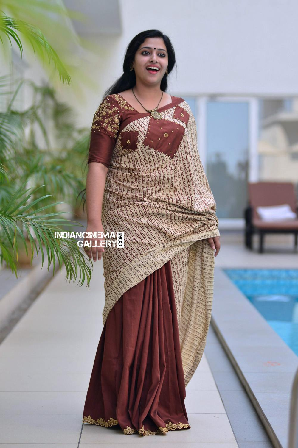 Anu Sithara Latest Photos Saree From Captain Movie Promo 06 Sitara Wet