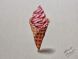 drawings barenghi marcello hyperrealistic objects drawing draw ice cream everyday realistic pencil fui mundo dar obra buceando milanes ilustrador hace