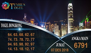 Prediksi Angka Togel Hongkong Jumat 07 Desember 2018