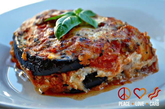 Eggplant Lasagna with Meat Sauce - Low Carb, Gluten Free ...