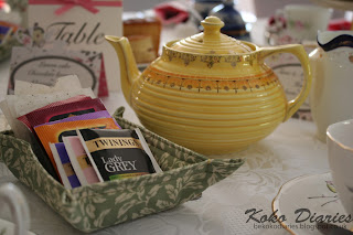 Afternoon Tea with Fabric Tray and Yellow Teapot