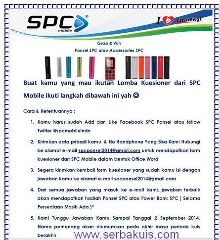 Kuis Berhadiah Ponsel Atau Powerbank dari SPC Indonesia