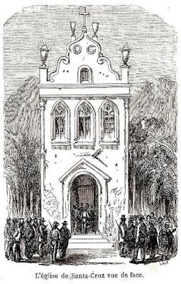 A igreja de Santa Cruz vista de frente.