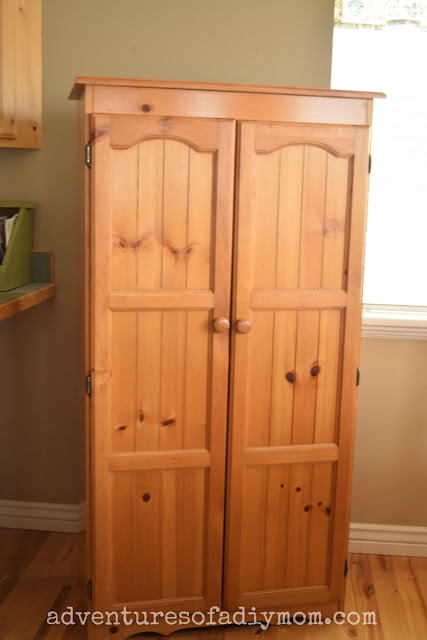 hutch makeover - before