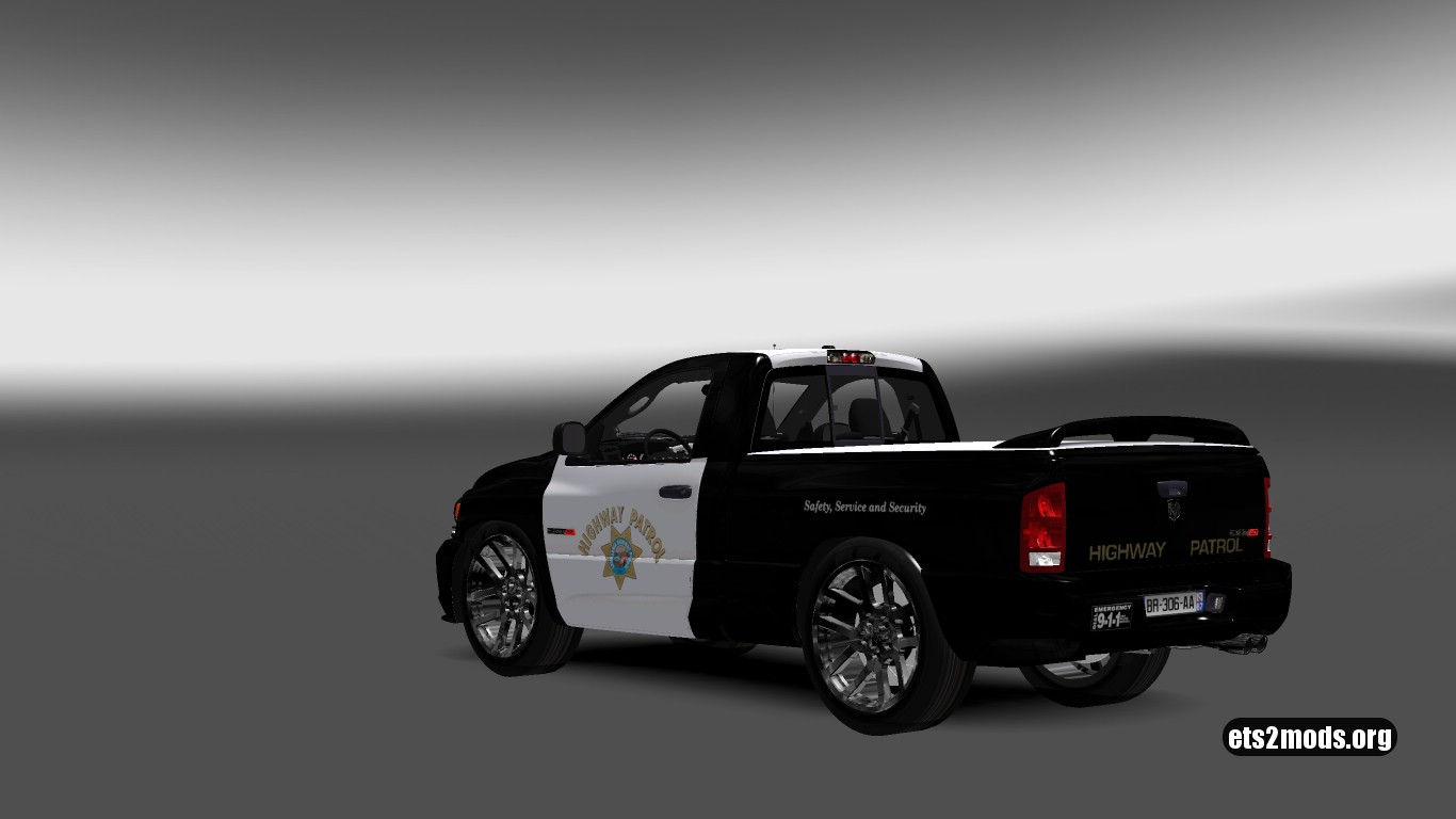 Dodge Ram California Highway Patrol Skin