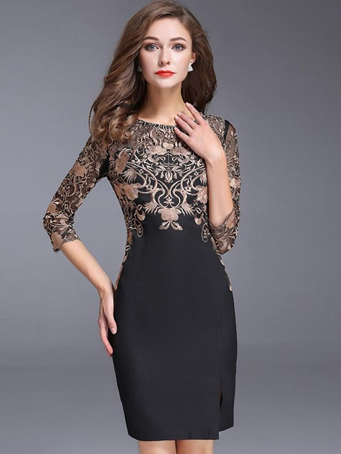 https://www.dresssure.com/products/chic-o-neck-3-4-sleeve-lace-embroidery-bodycon-dress