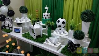 Decoração festa infantil Futebol