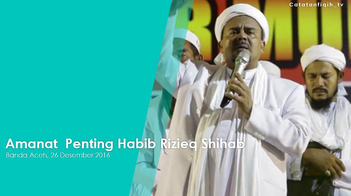 Amanat Penting Habib Rizieq Shihab Catatan Fiqih
