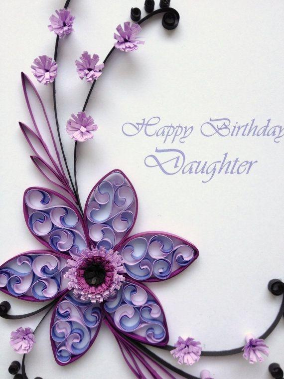 Handmade Paper Quilling Birthday Card Art Crafts Ideas
