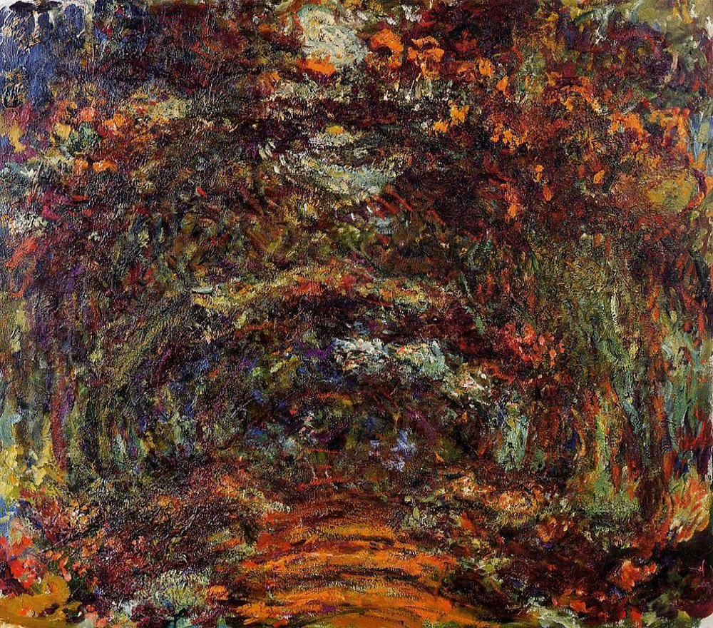 The Rose Walk, Giverny by Claude Monet