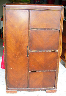 A To Z With Dee Painted Art Deco Waterfall Wardrobe