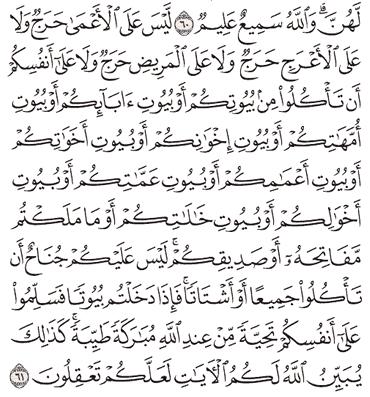 Tafsir Surat An-Nur Ayat 61