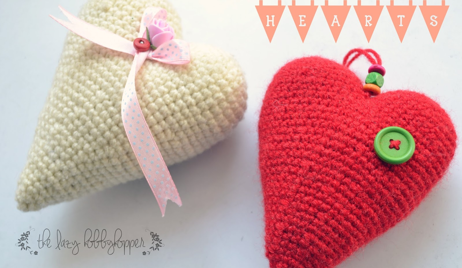 The Lazy Hobbyhopper: Crochet heart - free pattern