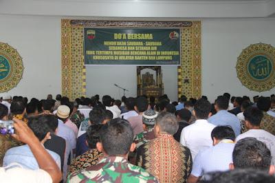 Korem 032/Wirabraja,  Laksanakan Doa Bersama Untuk Bencana Selat Sunda