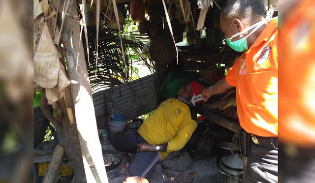 Kondisi mayat perempuan yang tinggal di gubuk