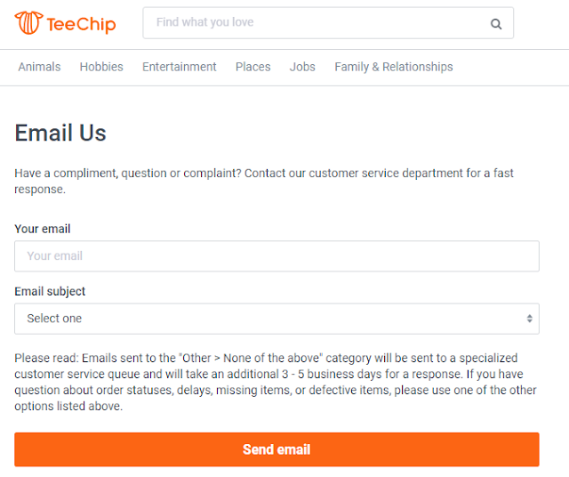 Teechip Contact Info, Order Trackind Details, Teechip Support Online Number