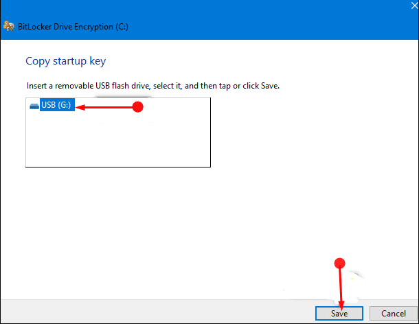 Methods to Copy Startup Key of BitLocker Encrypted Disk Drive in Windows 10