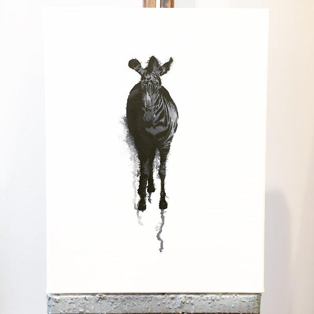 Zebra Stencil Artwork Nicole Tattersall