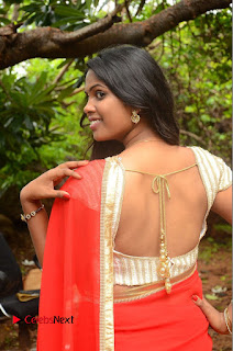 Actress Rishika Pictures in Red Saree at Lovers Park Movie Opening  0046.JPG