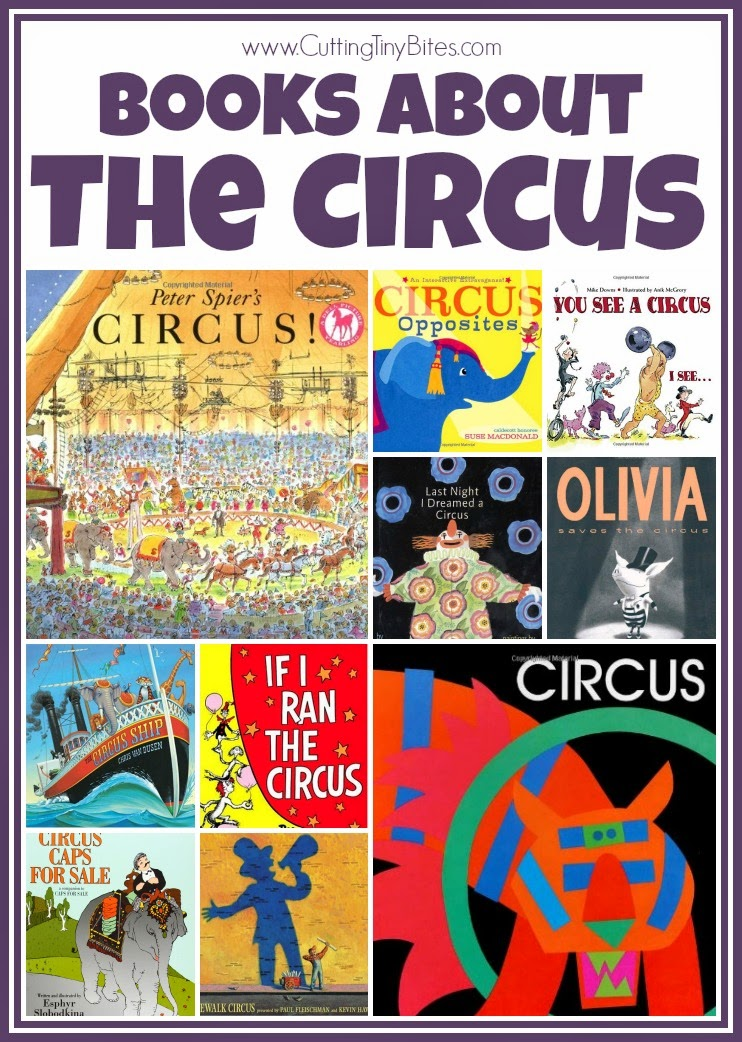 Children's book list about the circus. Reviews of each. Choices for babies, toddlers, preschoolers, and elementary aged children.