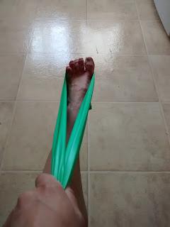 Pied tendon d'Achille élastique de physiothérapie course à pied blessure
