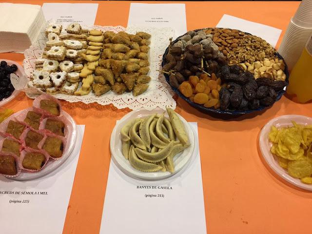 Macrouds, banyes de gasela, galetes de mantega, briouats i fekkia d'Ashura