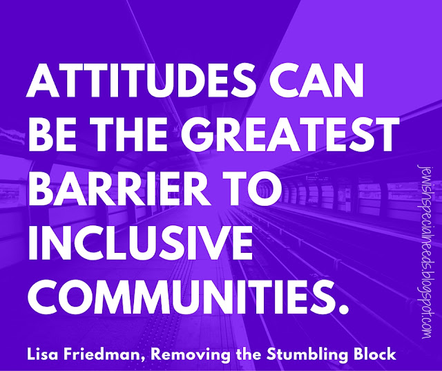 Attitudes barrier to inclusive communities; Removing the Stumbling Block