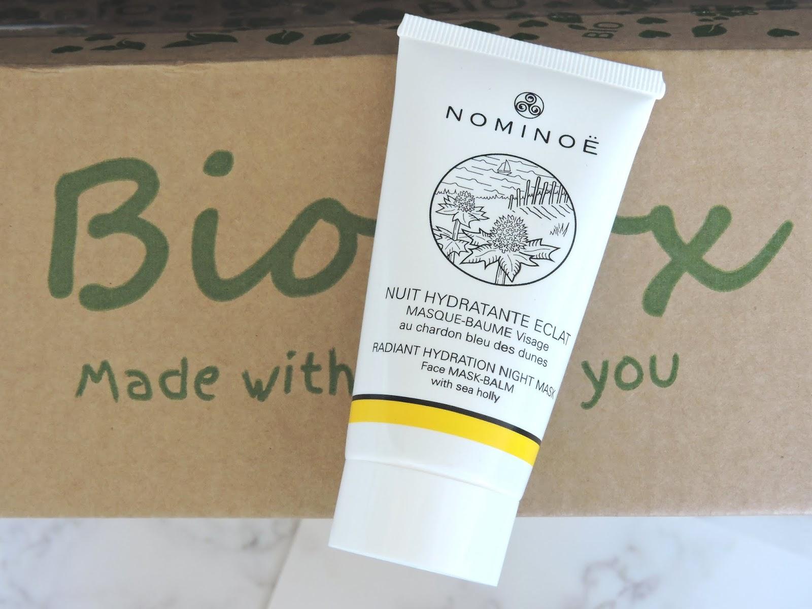 nuit hydratante éclat nominoë biobox suisse