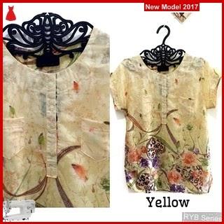 RYB125B Jewelery Flower Cantik Button Murah Blouse BMG Online Shop