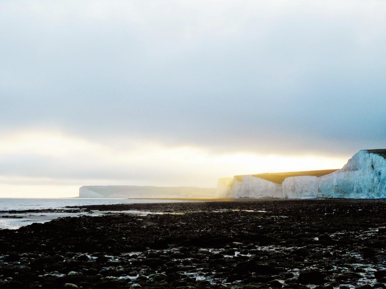 Le Seven Sisters viste da Beachy Head al tramonto