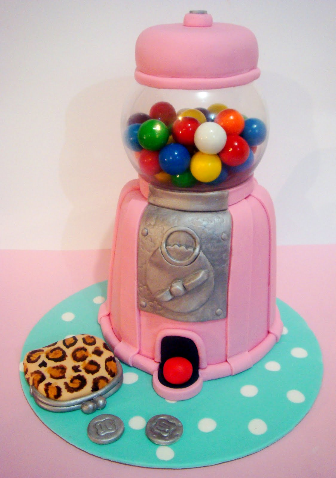 butter hearts sugar: Gumball Machine Cake