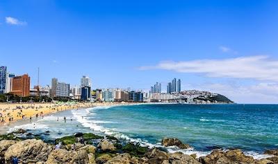 Южная Корея. South Korea вид на море, берег, пляж