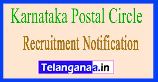 Karnataka Postal Circle Recruitment Notification 2017