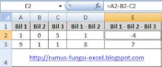 Rumus dasar excel ini merupakan dasar penggunaan rumus pada operasi aritmatika yang terdir Rumus Dasar Excel