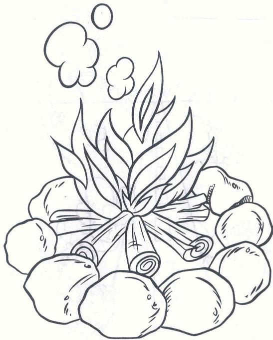 Smores Camping Coloring Pages