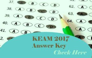 KEAM 2017 Key, KEAM Answer Key