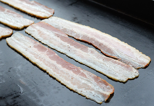 flat top bacon, homemade bacon