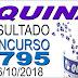 Resultado da Quina concurso 4795 (06/10/2018) ACUMULOU!!!