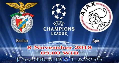 Prediksi Bola855 Benfica vs Ajax 8 November 2018