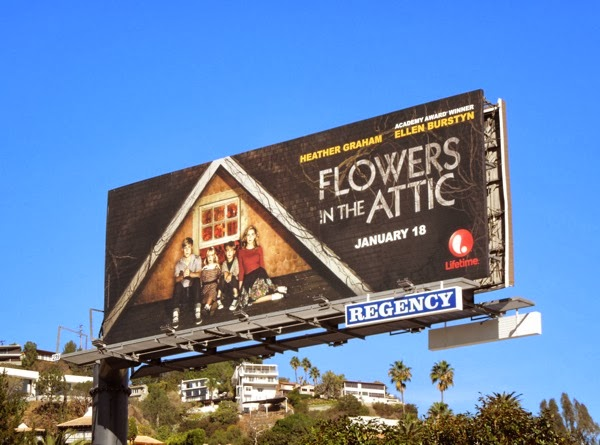 Flowers in the Attic Lifetime TV movie billboard