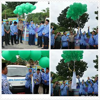 Bupati Lampung Timur Launchingkan Perpustakaan Keliling