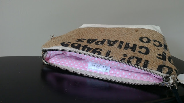 Lina and Vi Burlap Zipper Bags